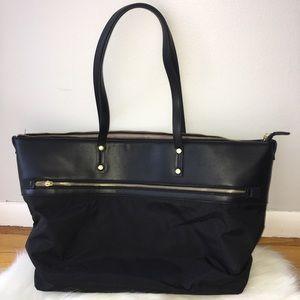 Black Vegan Leather Merona Handbag Tote